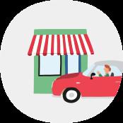 värdera bil – bild på bil och butik